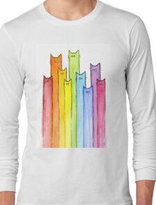 Rainbow of Cats Long Sleeve T-Shirt