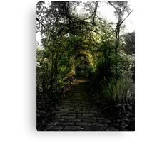 Green Garden Bower Canvas Print