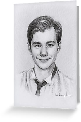 Chris Colfer by thedrawinghands