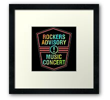 Colorful Rockers Advisory Framed Print