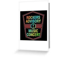 Colorful Rockers Advisory Greeting Card