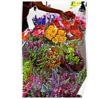 Bouquet at Market Day Poster
