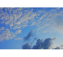 Background of blue sky. Photographic Print