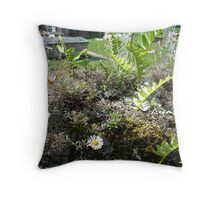 vivid green Cornish countryside  Throw Pillow