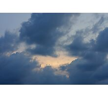 Background of sky with thunderclouds. Photographic Print