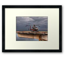 The Heliport in Monaco Framed Print