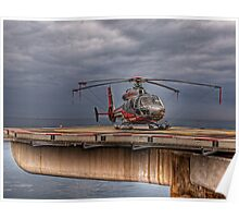 The Heliport in Monaco Poster