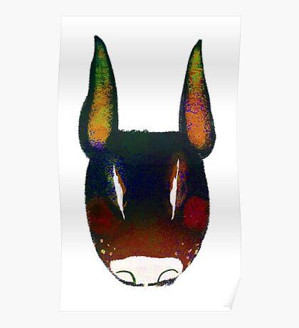 Boo Terrier (black) Poster