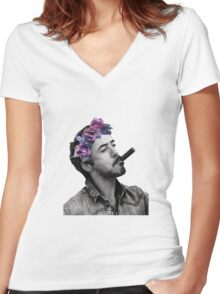 Cigar Women's Fitted V-Neck T-Shirt