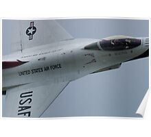 USAF Thunderbird Lead Solo Tight Canopy Shot Poster