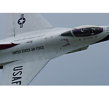 USAF Thunderbird Lead Solo Tight Canopy Shot Photographic Print