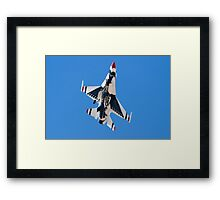 USAF Thunderbird Unmarked Belly Shot Banking on Approach  Framed Print