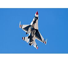 USAF Thunderbird Unmarked Belly Shot Banking on Approach  Photographic Print