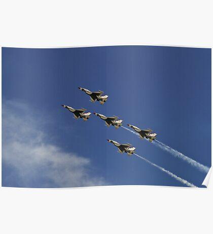 USAF Thunderbirds Five Card Loop Poster