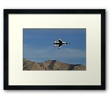 USAF Thunderbirds Solo Minimum Radius Turn Framed Print