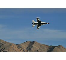 USAF Thunderbirds Solo Minimum Radius Turn Photographic Print