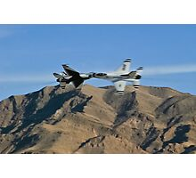 USAF Thunderbirds Solo Opposing Knife Edge Pass Photographic Print