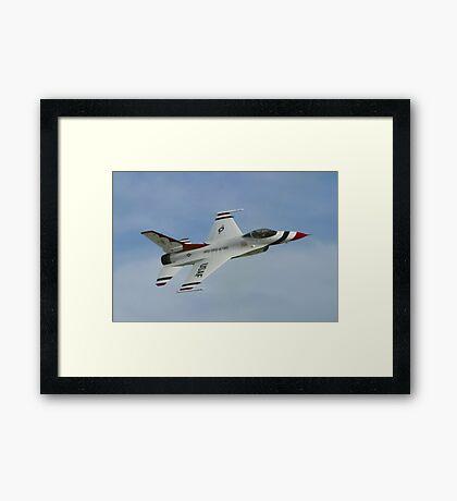USAF Thunderbirds Solo Sneak Pass Framed Print