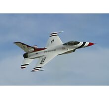USAF Thunderbirds Solo Sneak Pass Photographic Print