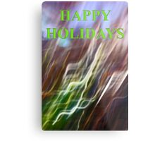 holly leaf abstract    happy holidays Metal Print
