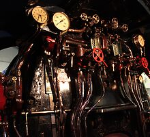 York Railway Museum Steam Train Cab Controls by Jan Fialkowski