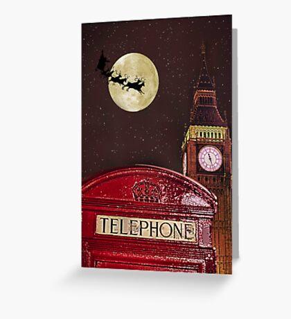 Santa over London Greeting Card