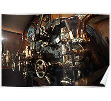 York Railway Museum Steam Engine Controls Poster