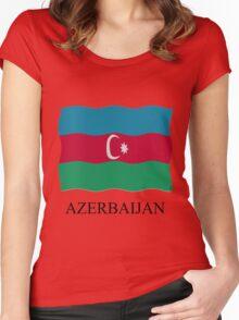 Azerbaijan flag Women's Fitted Scoop T-Shirt