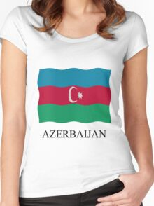 Azerbaijan flag Women's Fitted Scoop T-Shirt