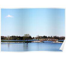 Bridge Over Henderson Lake Poster
