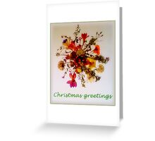 Pressed flowers from Western Australia Greeting Card