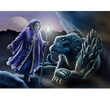 The sorceress and the dragon Photographic Print