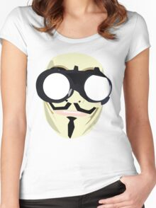 anonymous mask Women's Fitted Scoop T-Shirt