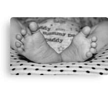 Pitter Patter of Baby feet Canvas Print