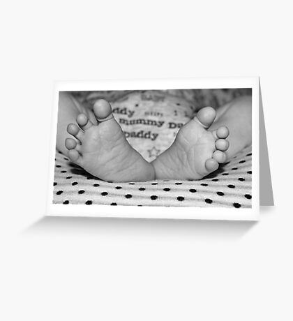 Pitter Patter of Baby feet Greeting Card