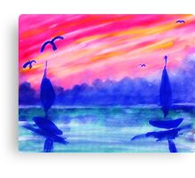 Must the day end...watercolor Canvas Print