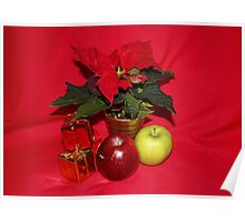 Christmas Apples Poster