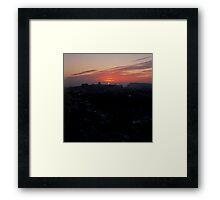 Wintery Budapest Sunrise Framed Print