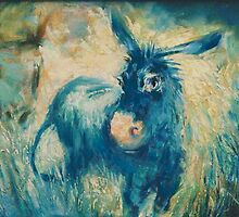 Donkey in blue by ABColor