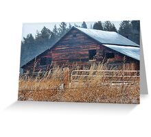 Winter Barn Greeting Card