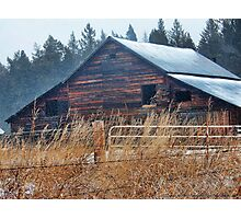 Winter Barn Photographic Print