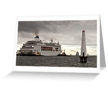 Pacific Pearl at Station Pier, Melbourne Greeting Card