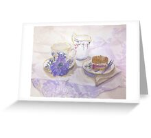 Radfordian Teatime Greeting Card