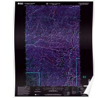 USGS Topo Map Washington State WA Loup Loup Summit 242081 2001 24000 Inverted Poster