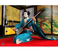 Shamisen Geisha Photographic Print