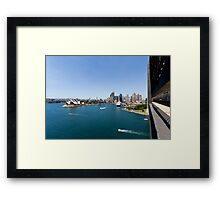 Sydney Harbour & Opera House From Sydney Harbour Bridge Framed Print