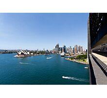 Sydney Harbour & Opera House From Sydney Harbour Bridge Photographic Print