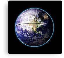 Death Star Earth Canvas Print
