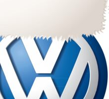 Christmas VW Badge Sticker