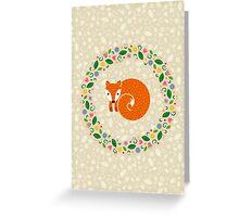 Spring Fox Greeting Card